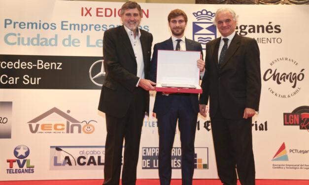 La Unión empresarial de Leganés UNELE, premia a Bidafarma en la categoria de industria en la IX edición de los premios