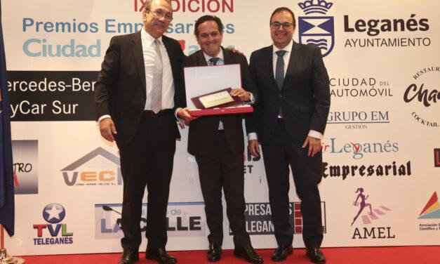 La Unión Empresarial de Leganés (UNELE) celebró  ayer la IX Edición de los Premios empresariales 'Ciudad de Leganés'
